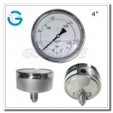 4 Stainless steel central lower connection oil pressure meter
