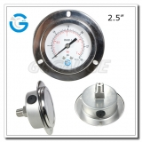 Flange type pressure gauges with 2.5 inch dial stainless steel case