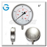 8 Bottom mount stainless steel gauges