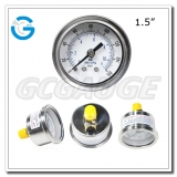 1.5 inch back connection crimped ring SS Case brass internal pressure gauges glycerine filled