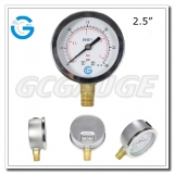 2.5 inch price of pressure gauges with bottom connection crimped ring