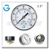 2.5 Economy black steel rear connection dial pressure gauge with press-in style