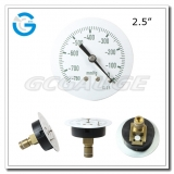 2.5 Capsule low black steel central mount single diaphragm low pressure vacuum gauges