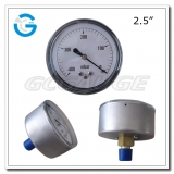 2.5 Capsule low stainless steel brass internal central mount pressure vacuum gauge