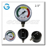 2.5 Capsule low black steel bottom mount single diaphragm medical pressure gauge