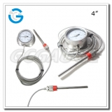 Capillary types thermometers with 4 inch dial stainless steel case flange type