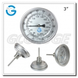 Bimetal thermometers with 3 inch 80 mm dial stainless steel case back connection