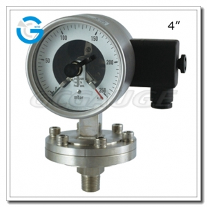sanitary electric contact pressure gauges