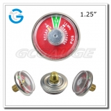1.25 Spiral tube fire extinguisher pressure gauges