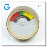 1 Mini brass pressure indicator of fire extinguisher
