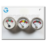 1 Diaphragm chrome-plated mini  fire extinguisher pressure gauges