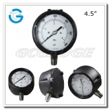 4.5 Polypropylene case stainless steel bottom connection safety pressure gauge