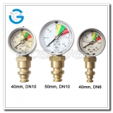 2 Stainless steel bottom connection mining pressure gauges