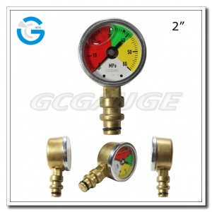 brass case pressure gauges