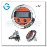 2.5 All stainless steel back connection panel mount digital pressure gauges