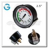 2.5 Capsule low black steel back entry low pressure indicator with U-clamp
