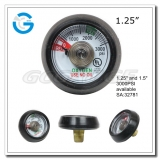 1.25  3000psi Spiral tube medical oxygen pressure gauges with ul certificate