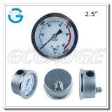 2.5 back mounted stainless steel 0-1000bar pressure gauges
