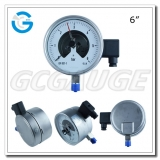 6 All stainless steel bottom connection electric contact gauges