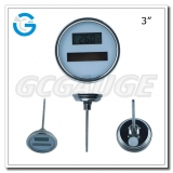 3 inch stainless steel back connection crimped ring solar industry digital thermometers