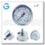 Hydraulic pressure gauge 1.5 inch back entry stainless steel material
