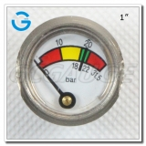 1 Diaphragm chrome-plated portable fire extinguisher pressure gauges