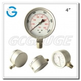 4 All stainless steel bottom connection safety pattern pressure guages with blow-out back