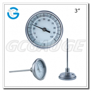 bimetal industrial thermometers