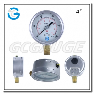bottom type pressure gauge