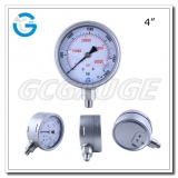 High pressure gauges PSI 4 inch bottom connection stainless steel material 0-2900bar with 1/4 NPT