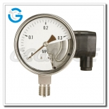 Pressure gauge with transmitter