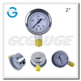Stainelss steel pressure gauges with 50mm dial size outside bayonet ring