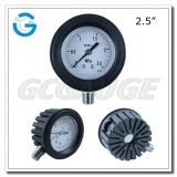 Pressure gauge with protection 2.5 inch dial