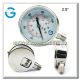 Pressure gauges liquid filled with polished surface
