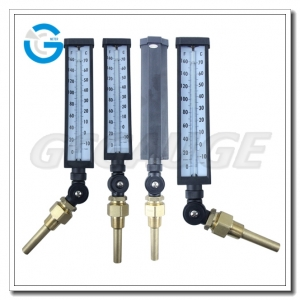 angle glass thermometers
