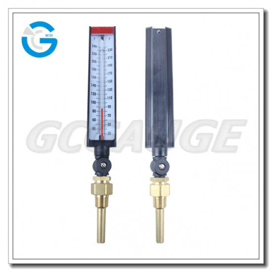 Straight type glass thermometers
