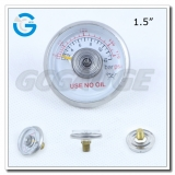 Stainless steel case spiral tube 1.5 inch 170 psi mini pressure gauges