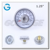 1.25 inch spiral tube  200 psi mini pressure gauges