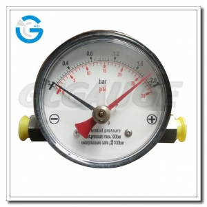 steel case differential pressure gauges