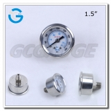 1.5 inch all stainless steel back entry 4000psi pressure gauge